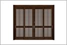 戸が4枚の引違い戸