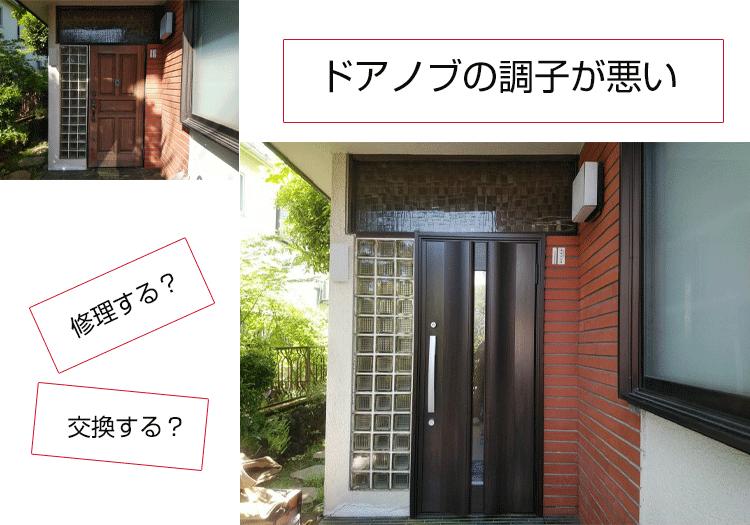 玄関ドア ドアノブ