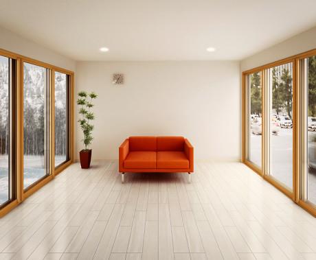 LIXILインプラス 木目調の窓が内窓です