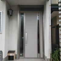 片袖ランマ付きのドア ドアの幅と高さを大きくしました【LIXILリシェントM78型】
