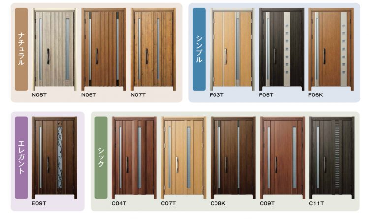 ykkap通風ドアのデザイン