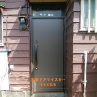玄関代わりに使っている勝手口ドアを防犯に強いドアにしました【LIXILリシェントM17型】取手市の工事事例