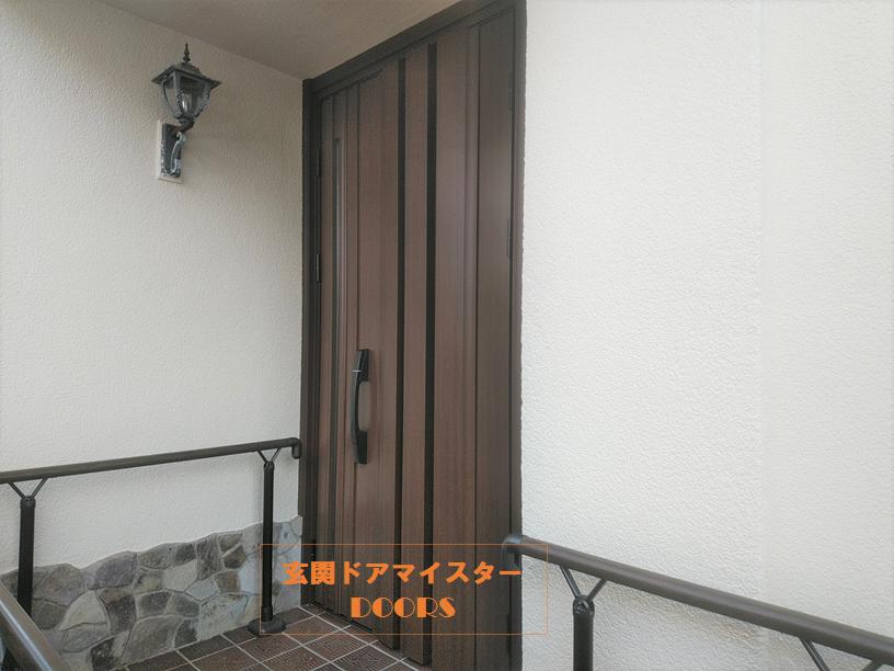 防犯性を高める目的でykkap玄関ドアに交換した施工事例