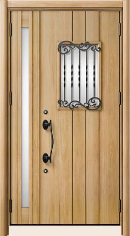 LIXILリシェントⅡ C42型 親子ドア ハンドダウンチェリー