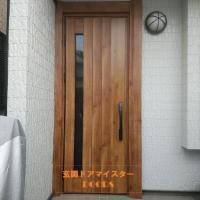 ガラスがないドアをガラス入りのドアにしました【YKKAPドアリモN05T】