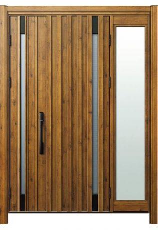 袖付き親子ドア