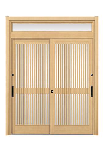 ランマ付き2枚建て玄関引き戸