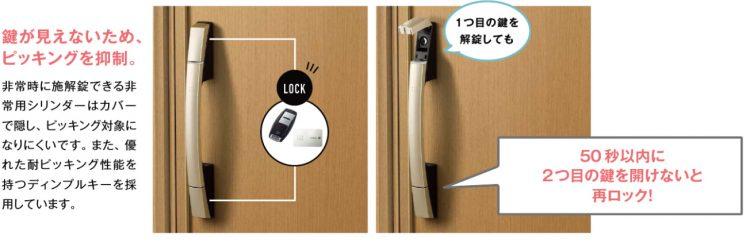 ykkap玄関ドアのピッキング対策