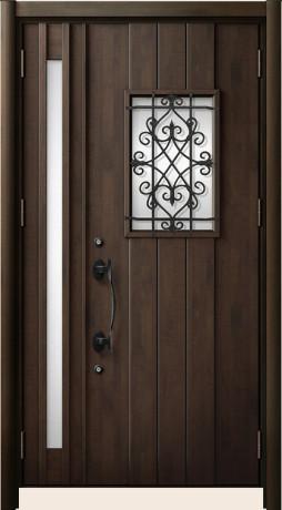 LIXILリシェントⅡ C41型 親子ドア アンティークオーク