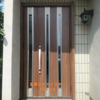 リシェントなら片袖枠のドアを1日で親子ドアにできます【LIXILリシェントM24型】鴻巣市の工事事例