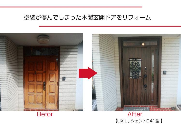 玄関ドアのリフォーム,YKK AP,リクシル,断熱ドア