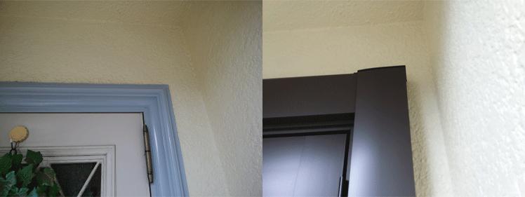 玄関ドア上部の納まり